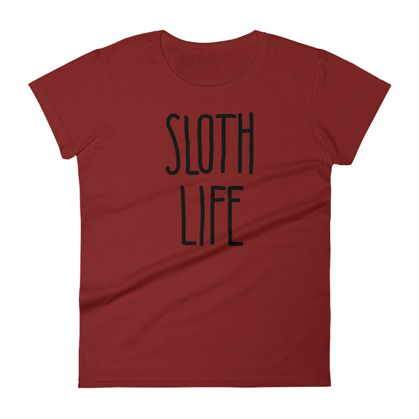 Sloth Life Shirt – Short Sleeve Women's T-Shirt - Sloth and Sloth [Product_type], Sloth and Sloth, Baby sloth, slothandsloth