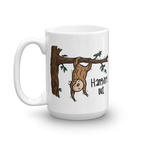 Hanging Out - Sloth Coffee Cup - Sloth and Sloth [Product_type], Sloth and Sloth, Baby sloth, slothandsloth