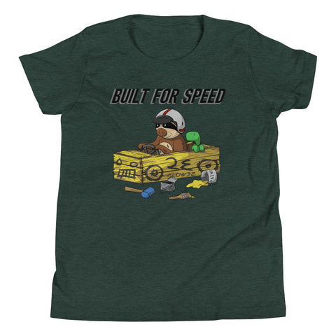 Built for Speed - Racing Sloth - Youth Short Sleeve T-Shirt - Sloth and Sloth [Product_type], Sloth and Sloth, Baby sloth, slothandsloth