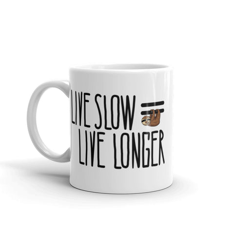Live Slow, Live Longer - Coffee Cup - Sloth and Sloth [Product_type], Sloth and Sloth, Baby sloth, slothandsloth