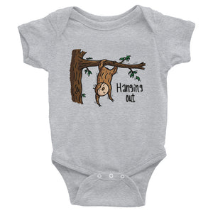 Hanging Out - Sloth - Baby Bodysuit Infant Clothing - Sloth and Sloth [Product_type], Sloth and Sloth, Baby sloth, slothandsloth