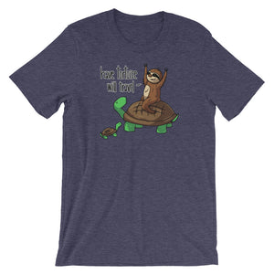 Have Tortoise Will Travel - Sloth and Turtle - Short-Sleeve Men's/Unisex T-Shirt - Sloth and Sloth [Product_type], Sloth and Sloth, Baby sloth, slothandsloth