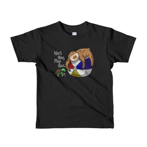 Work Slow, Play Slow - Sloth and Turtle - Short sleeve kids t-shirt - Sloth and Sloth [Product_type], Sloth and Sloth, Baby sloth, slothandsloth