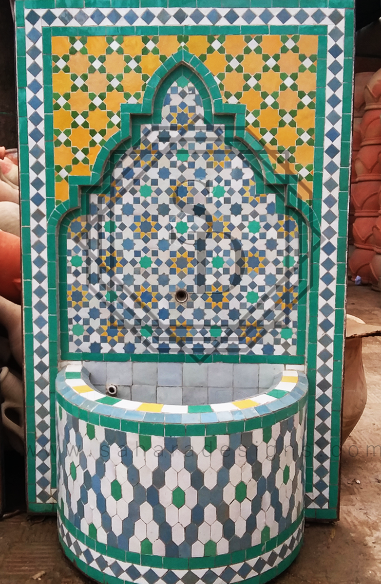 Moroccan Mosaic Fountain 18017