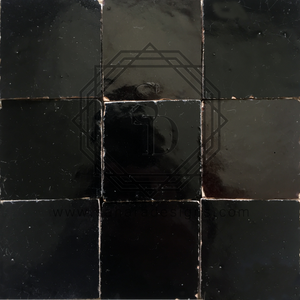 Black Zellij Ceramic Tile