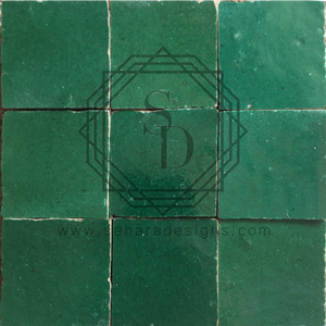 Dark Green Zellij Ceramic Tile