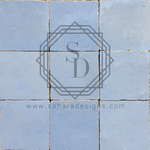 Sky Blue Zellij Ceramic Tile