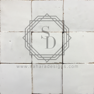 Porcelain White Zellij Ceramic Tile