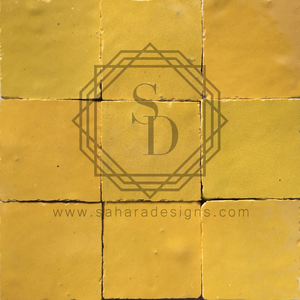 Yellow Zellij Ceramic Tile