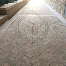 Handmade moroccan natural unglazed terracotta pavers 2 by 6 bijmat