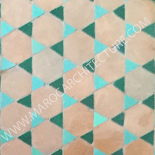 Moroccan terracota hexagon tiles pavers from Fez Morocco