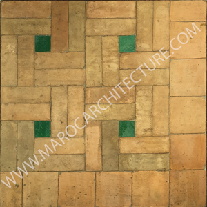 Moroccan terracota pavers from fez morocco