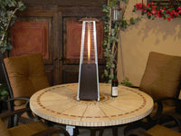 Portable Bronze Glass Tube Heater
