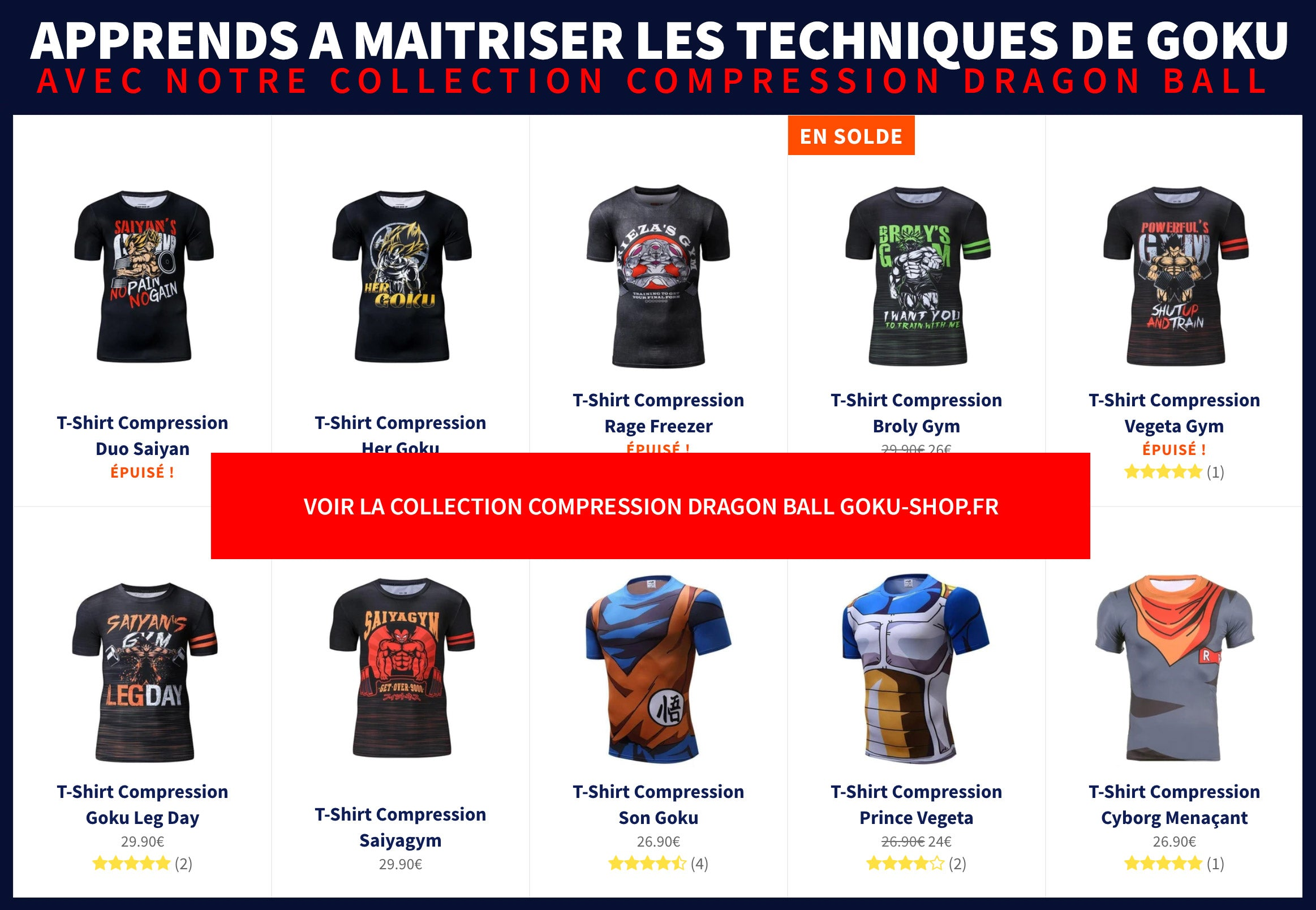 Maillots Compression Dragon Ball Z