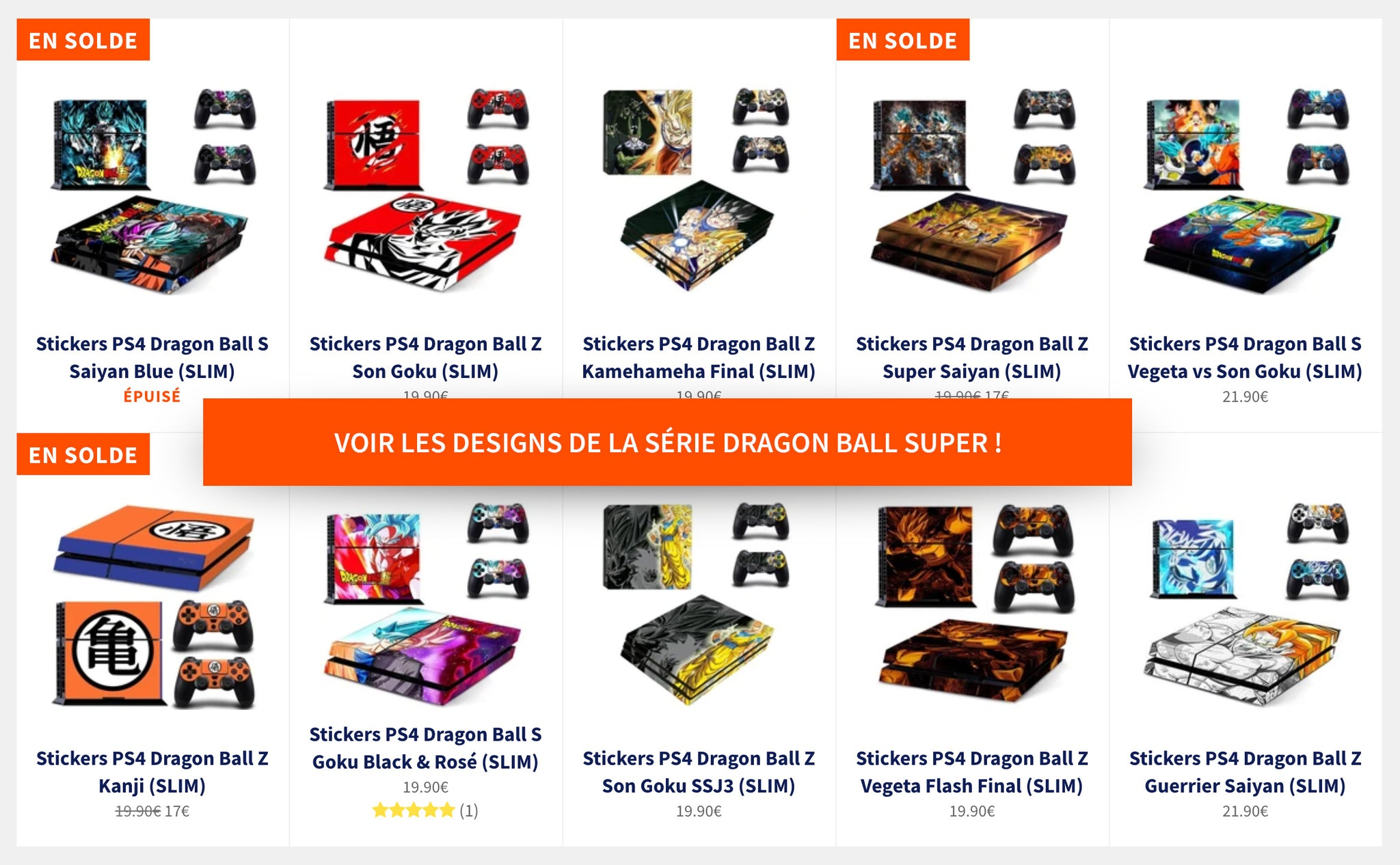 Stickers PS4 Dragon Ball Z