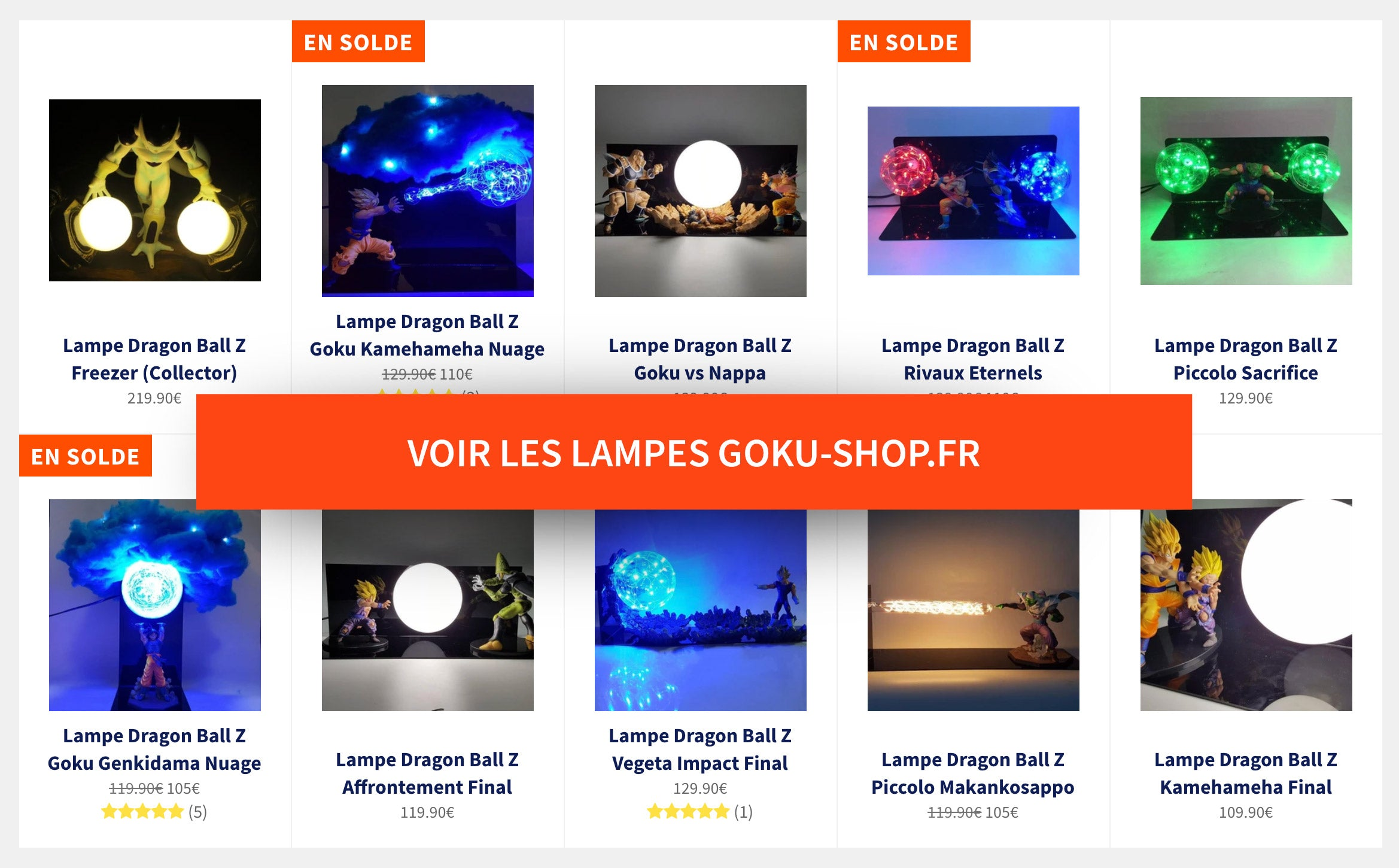 Lampes Dragon Ball Z