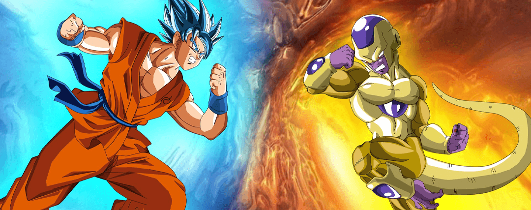 goku vs freezer dragon ball super