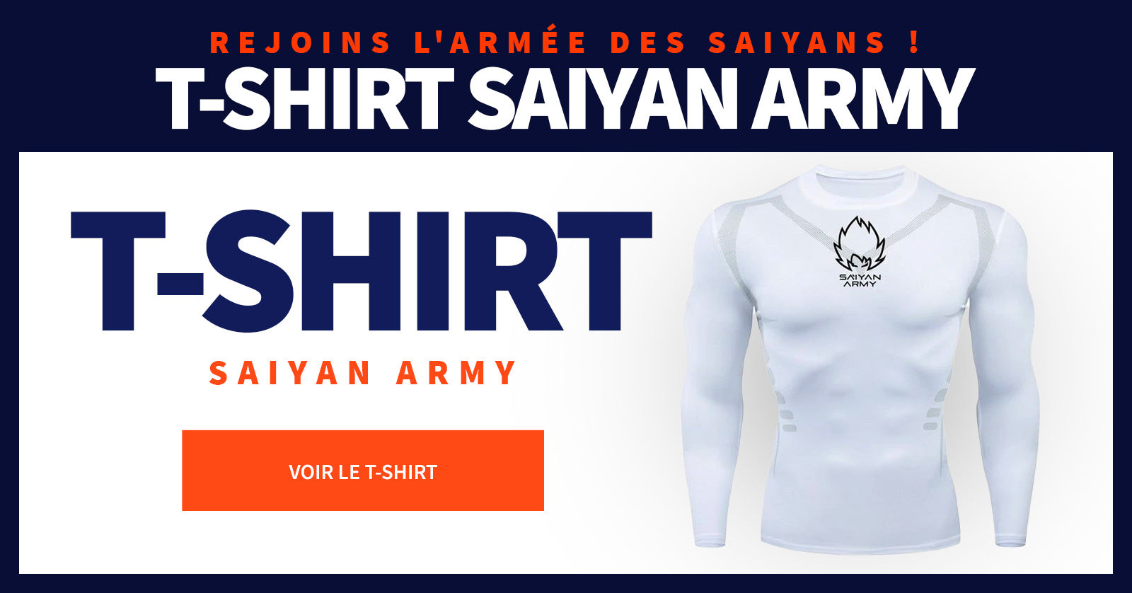 T-shirt Compression Long Saiyan Army