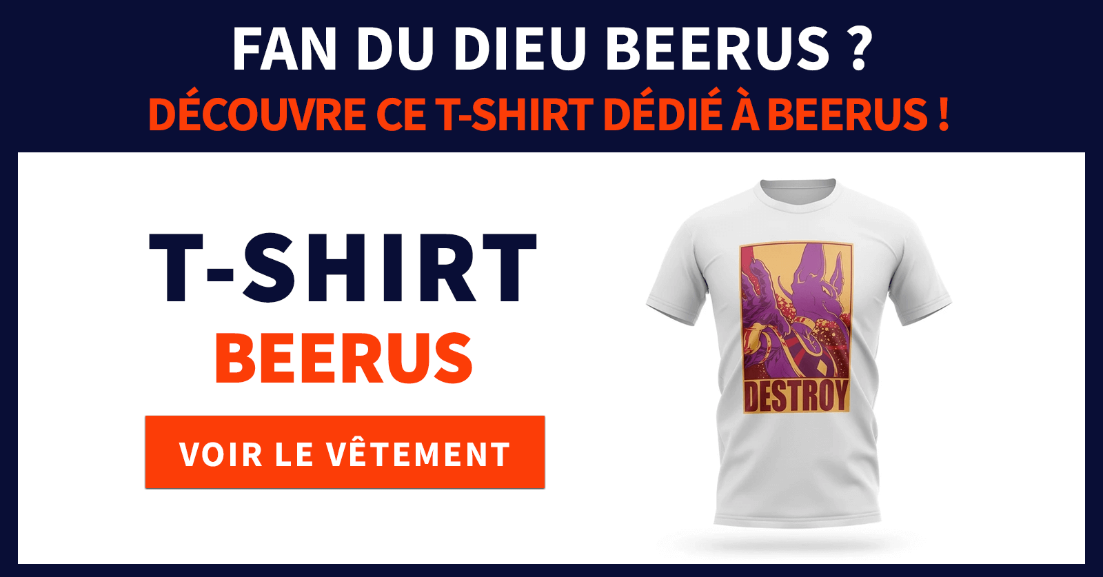 T shirt beerus destroy
