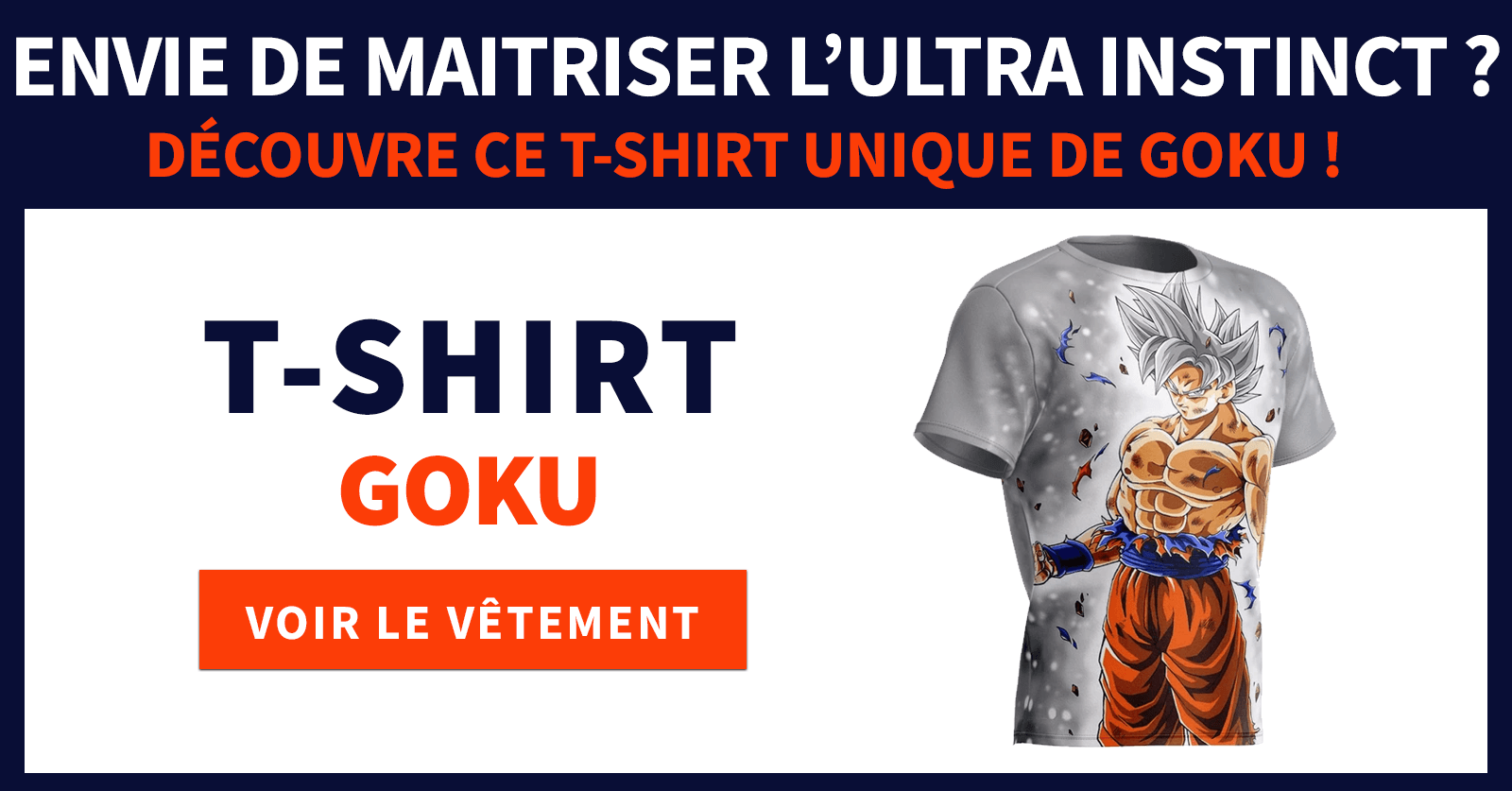 T shirt Goku Ultra Instinct