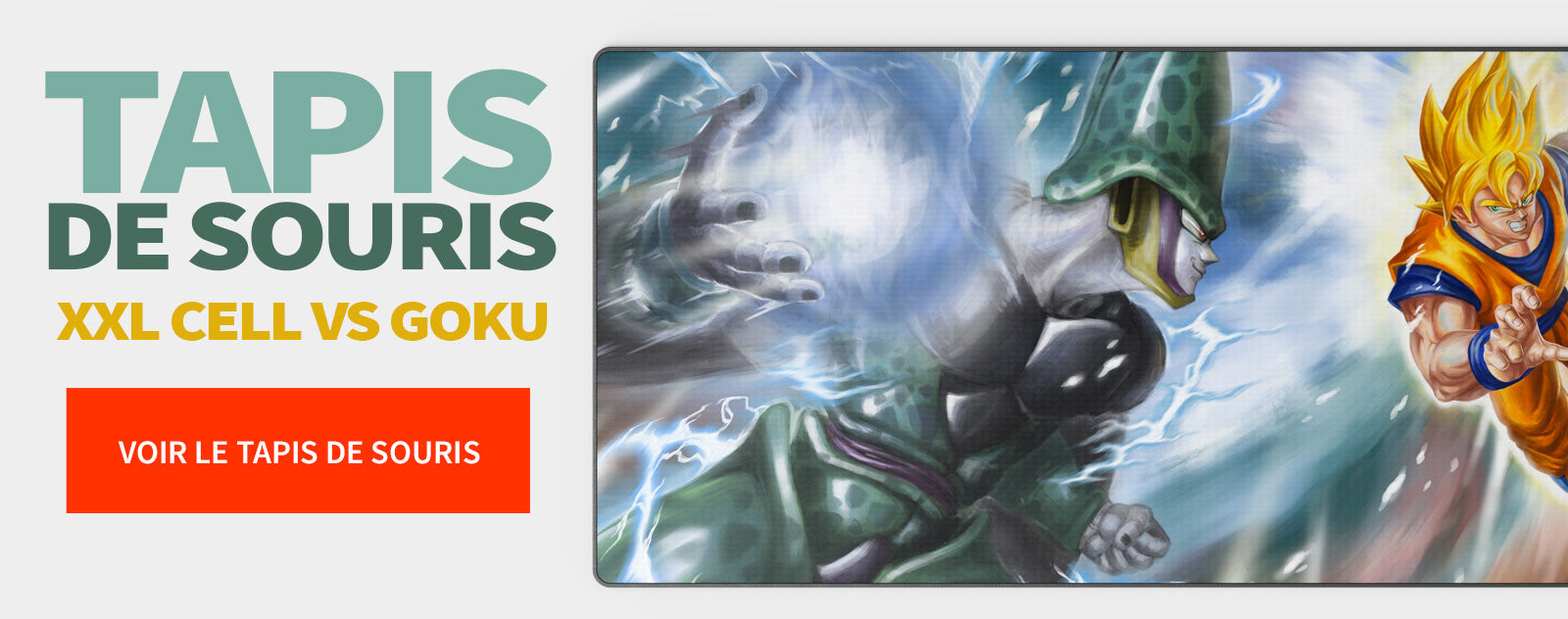 Tapis de Souris XXL Cell vs Goku
