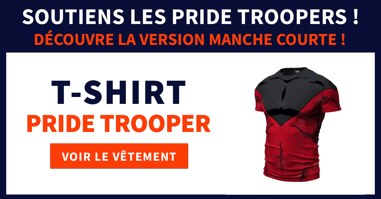 Tee shirt pride trooper