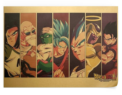 Poster Dragon Ball Z - Z-Fighters