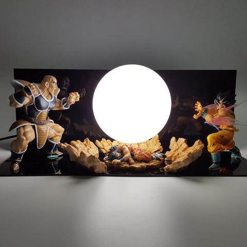 Lampe Dragon Ball Z Son Goku vs Nappa