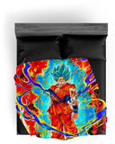 Plaid Dragon Ball Super</br> Goku Blue