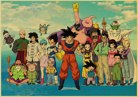 Poster Dragon Ball Z Bataille contre Buu