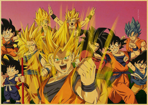 Poster Dragon Ball Z Goku Saiyan