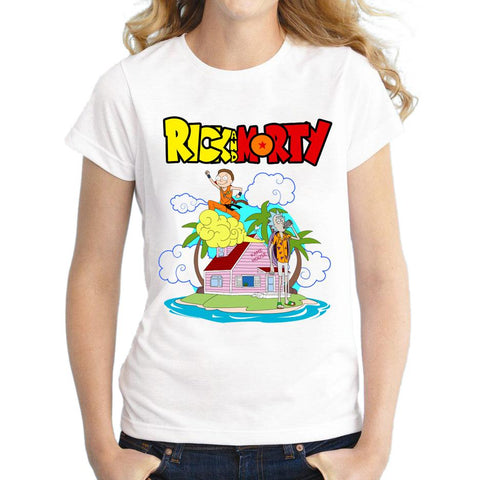 T-Shirt Dragon Ball Z Femme Rick et Morty