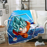Plaid Dragon Ball Z</br> Sangoku SSJ Blue