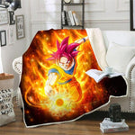 Plaid Dragon Ball Z</br> Sangoku SSJ God
