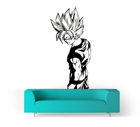 Sticker Mural Dragon Ball</br> Son Goku Super Saiyan