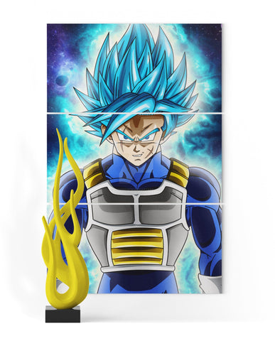 Tableau Dragon Ball Super Bardock SSJ Blue