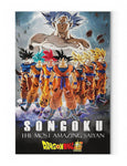 Tableau Dragon Ball Super</br> Formes Saiyan