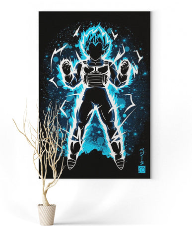 Tableau Dragon Ball Super</br> Vegeta SSJ Blue
