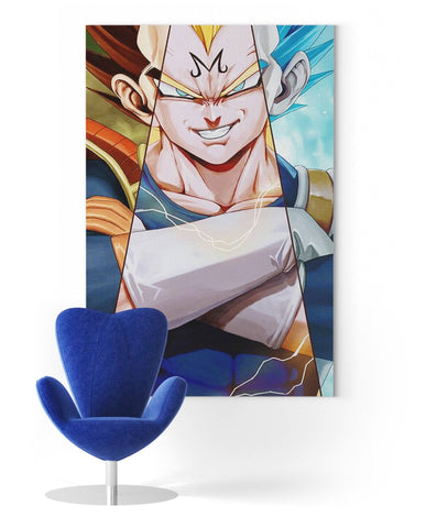 Tableau Dragon Ball</br> Vegeta 3 Formes