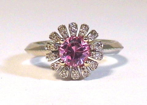 Pink Sapphire Daisy Ring