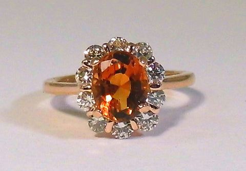 Citrine and Diamond Deanna Ring