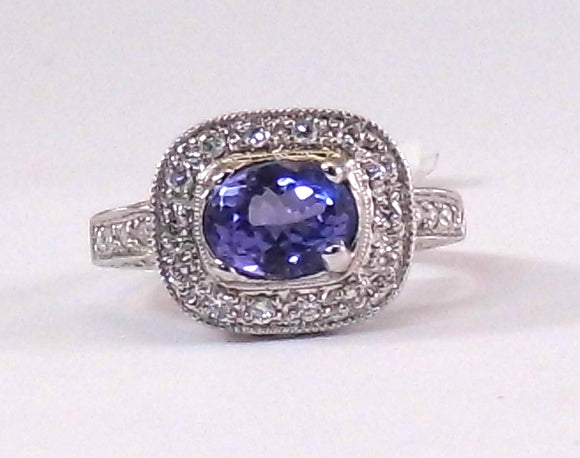 Deco Tanzanite Ring