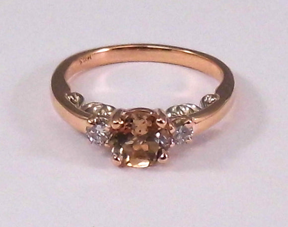 Melissa Morganite Three Stone Ring