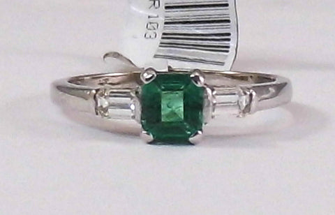 Elizabeth Emerald and Diamond Ring