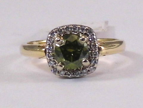Linna Green Diamond Ring