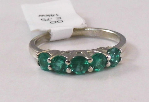 Cascading Emerald Stackable Band