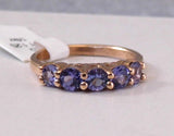 Cascading Tanzanite Stackable Band