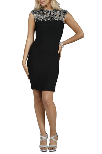 Cut Out Cocktail Short Black Evening Dress
