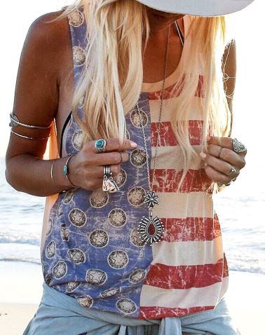 Cut-off Sleeve American Muscle Tank