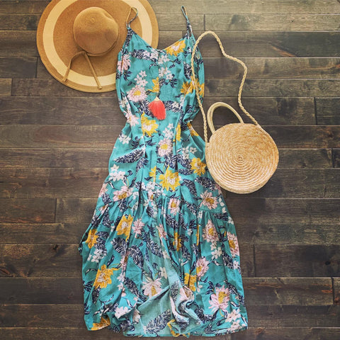 Button Down Floral Maxi Sundress